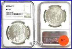 1903-0 Ms 64 Morgan Silver Dollar. Ngc. Beautiful Lustrous Coin. Key Date