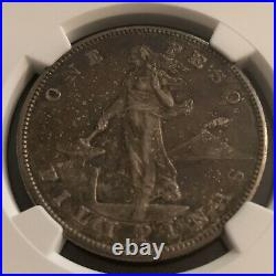 1903 US-Philippines Peso Silver Coin NGC AU55 Toned Beauty