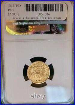 1907 $2.5 Liberty MS 65 NGC Beautiful Coin
