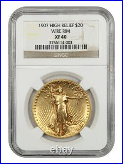 1907 High Relief $20 NGC XF40 (Wire Edge) Americas Most Beautiful Coin
