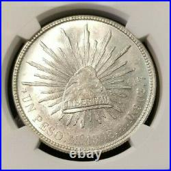 1908 Mo AM MEXICO UN PESO NGC MS 63 HIGH GRADE BRIGHT LUSTER BEAUTIFUL COIN