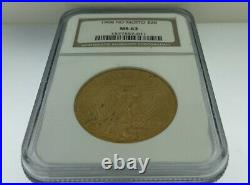 1908 NO MOTTO $20 Saint Gaudens Double Eagle NGC MS63 Gold Coin BEAUTIFUL