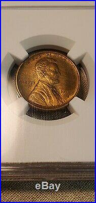1909-S VDB KEY DATE LINCOLN WHEAT CENT NGC MS64 RB BEAUTIFUL COIN (Slab174)