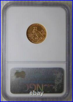 1910 INDIAN HEAD GOLD $2.5 Dollar QUARTER EAGLE, NGC MS 61, Beautiful Coin