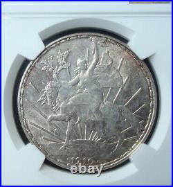 1910 Mexico $1 peso silver Beautiful coin Uncirculated NGC 61