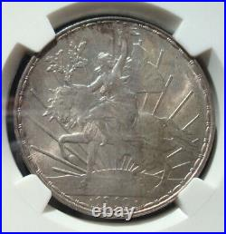 1910 Mexico $1 peso silver Beautiful coin Uncirculated NGC 63