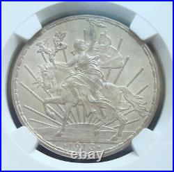 1913 Mexico $1 peso silver Beautiful coin Uncirculated NGC 62