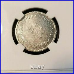 1915 Mexico Peso Oaxaca 4th Bust Ngc Ms 63 High Grade Beautiful Scarce Coin