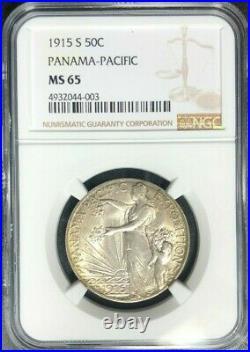 1915-s Panama-pacific Silver Half Dollar Ngc Ms 65 Beautiful Looking Coin
