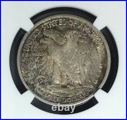 1917-s Obv Walking Liberty Silver Half Dollar Ngc Ms 64 Beautiful Coin