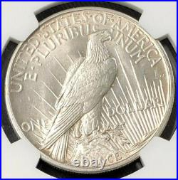 1921 Peace Dollar Beautiful High Relief Coin. NGC MS62. Rare Date