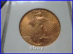 1924 St. Gaudens $20 Double Eagle NGC Grade MS64 BEAUTIFUL COIN