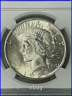 1925 MS65 Peace Dollar NGC Mint State 65 BEAUTIFUL COIN