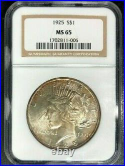 1925 Peace Silver Dollar Ngc Ms 65 Beautiful Coin Ref#11-005