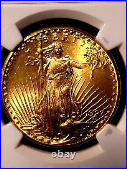 1927 $20 Saint Gaudens Gold Double Eagle Ngc Ms65 Beautiful Luster! Nice Coin