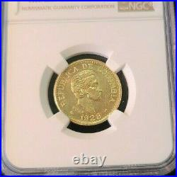 1928 Colombia Gold 5 Pesos G5p Medellin Ngc Ms 64 High Grade Bu Beautiful Luster