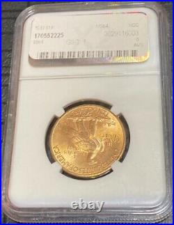 1932 $10 Gold Liberty Head Eagle NGC MS64 Certified Ten Dollar Coin, Beautiful