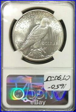 1934-s Peace Silver Dollar Ngc Au 58beautiful Coin Unbelievable Brutal Grade