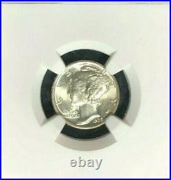 1935 Mercury Silver Dime Ngc Ms 66 Fb Full Bands Beautiful Coin