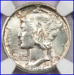 1935-S 1935 Mercury Dime NGC MS65FB MS65 FB beautiful original coin