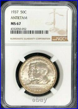 1937 Antietam Commemorative Silver Half Dollar Ngc Ms 67 Beautiful Coin
