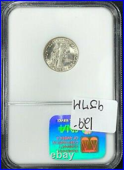 1937-d Mercury Silver Dime Ngc Ms 66fb Beautiful Coinref#43-003