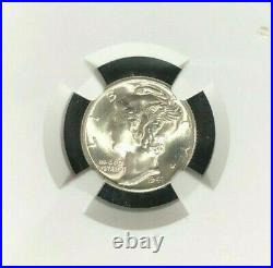 1941-d Mercury Silver Dime Ngc Ms 67 Fb Beautiful Coin Ref# 31-007