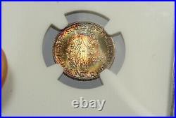 1944-s Ngc Ms-68+ Fb Mercury Dime! Beautiful Rainbow Colors! Finest Coin Pop 1