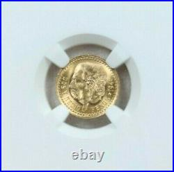 1945 Mexico Gold 2.5 Pesos G2.5p Restrike Ngc Ms 67 Pq Gem Bu Beautiful Coin