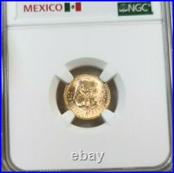 1945 Mexico Gold 2.5 Pesos Restrike Ngc Ms 67 Very High Grade Gem Bu Beautiful