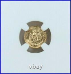 1945 Mexico Gold 2 Pesos G2p Restrike Ngc Ms 66 Gem Bu Beauty Stellar Coin