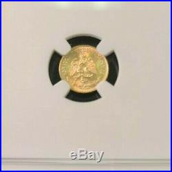 1945 Mexico Gold 2 Pesos Restrike Ngc Ms 66 High Grade Beautiful Luster Gem Bu