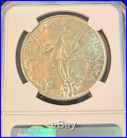1947 Panama Silver 1 Balboa Vasco Nunez De Balboa Ngc Ms 64 Beautiful Bu Coin