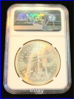 1949 Mexico Silver 1 Onza Ngc Ms 64 Key Coin Bu Beautiful Lustrous Stunner