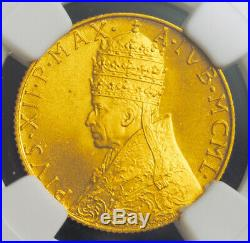 1950, Vatican, Pius XII. Beautiful Gold 100 Lire Coin. (5.19gm!) NGC MS-66