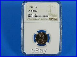 1953 P to 1963 P, 12-Coin Set, Lincoln Cents NGC Pf 68 Red, Beautiful Set