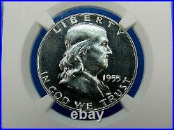 1955 P to 1963 P, 9-Coin Set, Franklin Half Dollar, NGC Pf 68 Beautiful Set