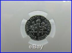 1955 P to 1964 P, 10-Coin Set, Roosevelt Dimes NGC Pf 68, Beautiful Set