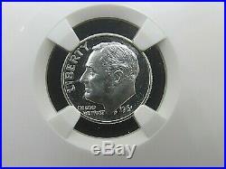 1955 P to 1964 P, 10-Coin Set, Roosevelt Dimes NGC Pf 68 Cameo, Beautiful Set