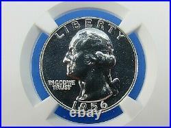 1955 P to 1964 P, 10-Coin Set, Washington Quarters, NGC Pf 69 Beautiful Set