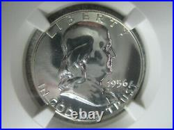 1956 PROOF FRANKLIN HALF DOLLAR Type 2 NGC PF 68 BEAUTIFUL SILVER COIN