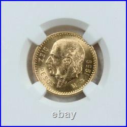 1959 Mexico Gold 10 Pesos G10p Restrike Hidalgo Ngc Ms 64 Stunning Bu Beautiful