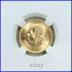 1959 Mexico Gold 10 Pesos G10p Restrike Hidalgo Ngc Ms 65 Stunning Gem Bu Beauty