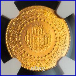 1962, Turkey (Republic). Beautiful Gold 25 Kurush Coin. (1.75gm!) NGC MS-65