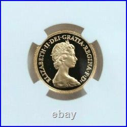 1981 Great Britain Gold 1 Sovereign Ngc Pf 69 Ultra Cameo High Grade Beautiful
