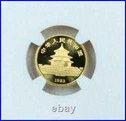 1983 China Gold 10 Yuan G10y Panda Ngc Ms 69 Very High Grade Gem Scarce Beauty