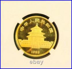 1983 China Gold 50 Yuan G50y Panda Ngc Ms 68 High Grade Beautiful Coin