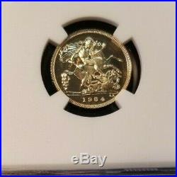 1984 Great Britain Gold 1/2 Sovereign Ngc Pf 70 Cameo Scarce High Grade Beauty