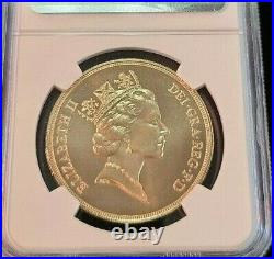 1985 Great Britain Gold 5 Sovereign Ngc Ms 69 High Grade Beautiful Bright Coin