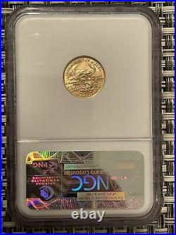 1986 $5 American Gold Eagle 1/10 oz. NGC MS70 Brown Label Beauty